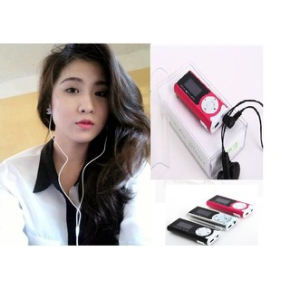 Máy nghe nhạc MP3 có màn hình Led, tai nghe, thẻ nhớ 2 G, dây sạc