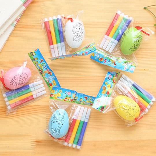 Combo 10 trứng tô màu cho bé[GIÁ HỦY DIỆT]