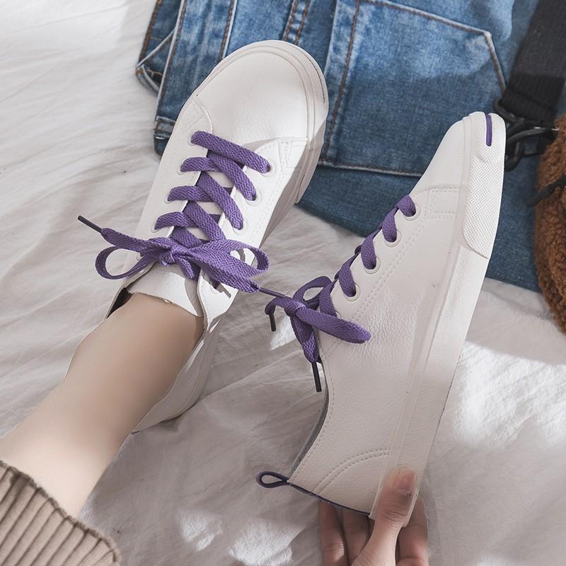 Giày mùa xuân nữ phiên bản Hàn Quốc của giày xu hướng giày vải thô hoang dã Giày sinh viên màu trắng giày đế bệt Giày đế