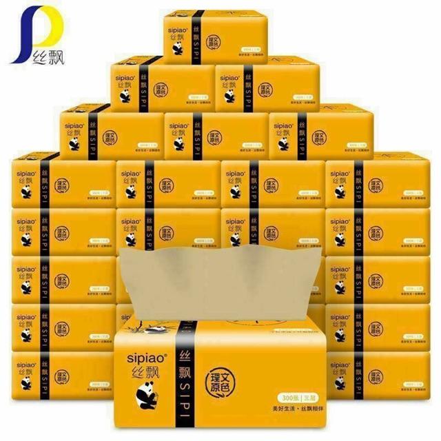 27 Gói giấy ăn gấu trúc Sipiao cao cấp ( 300 tờ/ gói)