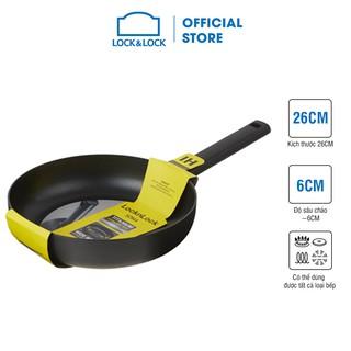 [Mã LIFEHL9 giảm 8% tối đa 100K đơn 250K] Chảo rán Soma Lock&Lock 26cm (Có thể dùng bếp từ) - Màu đen - LMH1263IH thumbnail