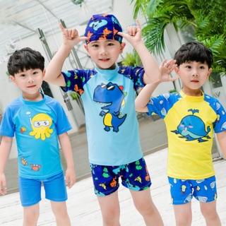 Đồ bơi bé trai quần short họa tiết hoạt hình mới size từ 14kg đến 35kg