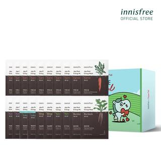 Bộ 20 mặt nạ giấy chăm sóc da từ rau củ innisfree Jeju Root Energy Mask 25ml miếng thumbnail