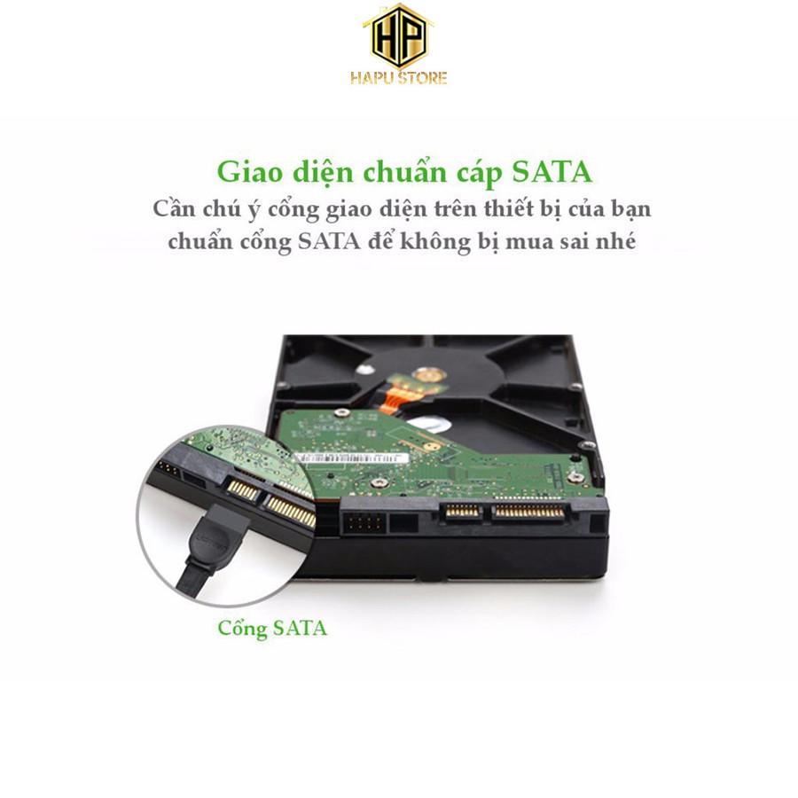 Cáp SATA 3.0 đầu bẻ góc 90 độ Ugreen 30797 dài 50cm chính hãng - Hapustore