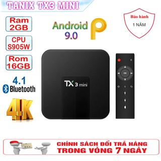 Android Tivi Box Tx3 Mini Ram CPU S905 - Ram 2GB, Rom 16GB - Android 9.0
