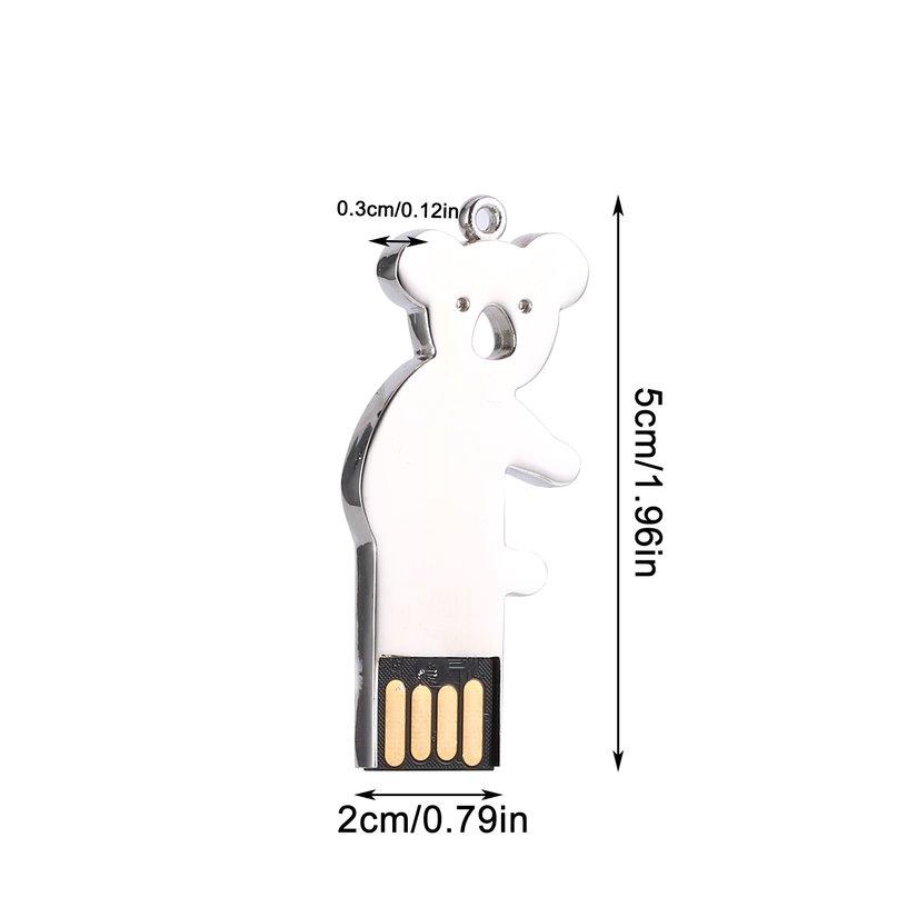 8.15【HOT】Usb2.0 Metal Bear Waterproof Flash Storage U Disk 8gb/16gb/32gb/64gb/128gb