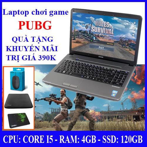 *GAME PUBG* Laptop chơi game online PUBG, core I5, ổ cứng SSD 120 (bảo hành 24thang1), tặng kèm chuột, lót chuột, túi ch Giá chỉ 4.100.000₫