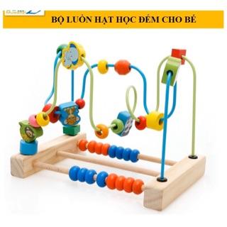 Bộ đồ chơi gỗ luồn hạt bàn tính phát triển trí tuệ cho bé