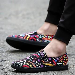 Giày lười nam vải bố thời trang
