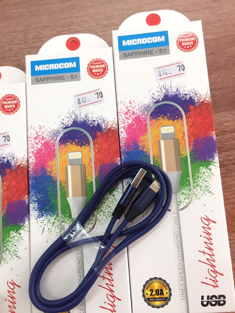 Dây sạc iphone shaphire s1 chính hãng microcom