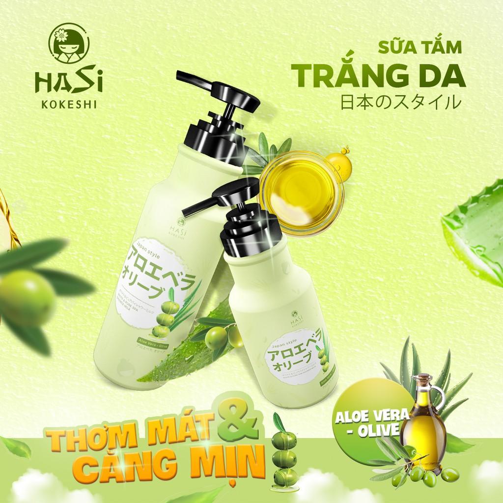 SỮA TẮM HASI KOKESHI DƯỠNG ẨM VÀ TRẮNG DA - NHA ĐAM & OLIVE | Shopee Việt  Nam