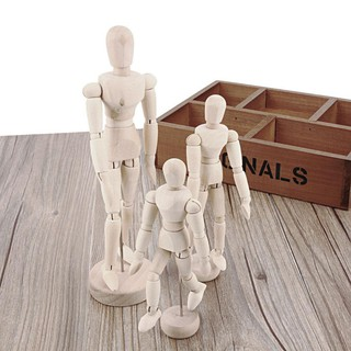 Handmade Wooden Limbs Movable Human Model Figure Artist Sketch Draw Models-mat