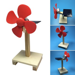 Technology Mini Solar Power Electric Fan Toy Brain Training Toy For Children