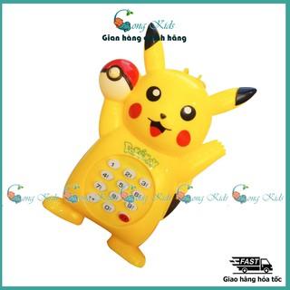 Có nhạc Đồ chơi điện thoại bàn cầm tay Pikachu dùng pin xinh xắn, ngộ nghĩnh cho bé thumbnail