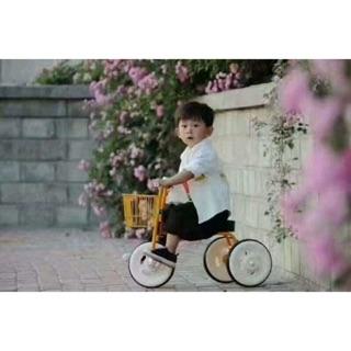Xe đạp 3 bánh xuất Nhật cho bé – X bánh có khung thép dày chắc chắn,
