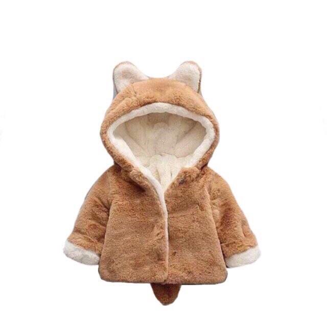 Áo khoác lông chồn cho bé (hàng loại 1)