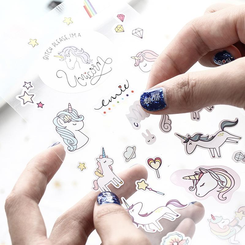 Sticker Dán Trang Trí Sổ Tay Hình Kỳ Lân Đáng Yêu