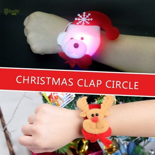 VN❤ Decoration 1PC Christmas Ornaments Snowman Old Antlers Wrist Ornament Toy Pat Circle Christmas D