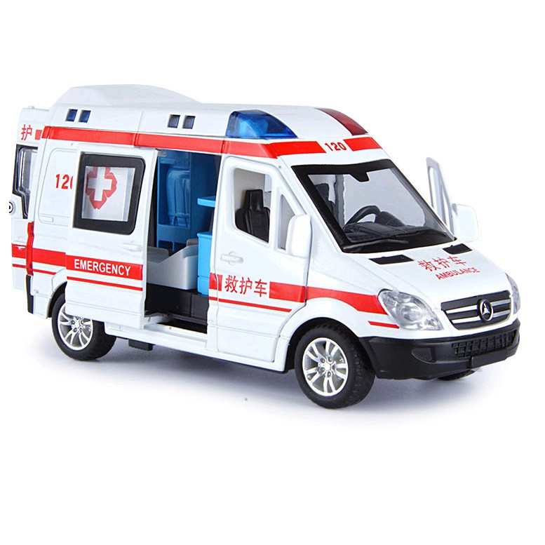 Xe cứu thương RMZ city120 có nhạc và đèn mở dược tất cả các cửa
