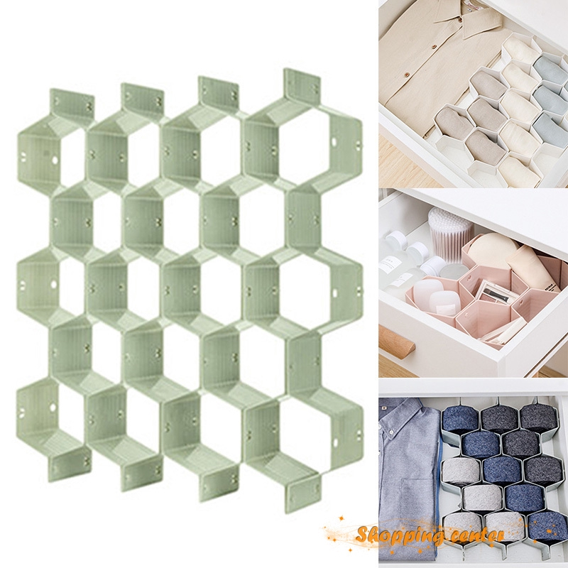✮SC Honeycomb Storage Grid Compartment Household Underwear Socks Bra Stockings Drawer Divider Partition