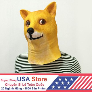 Đầu Giả Hóa Trang Chó Nhật