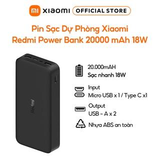 Pin Sạc Dự Phòng Xiaomi Redmi Power Bank 20000 mAh 18W - Chính hãng- BH 6 tháng thumbnail