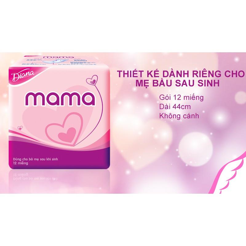 Băng vệ sinh Diana Mama không cánh 12 miếng   Shopee Việt Nam