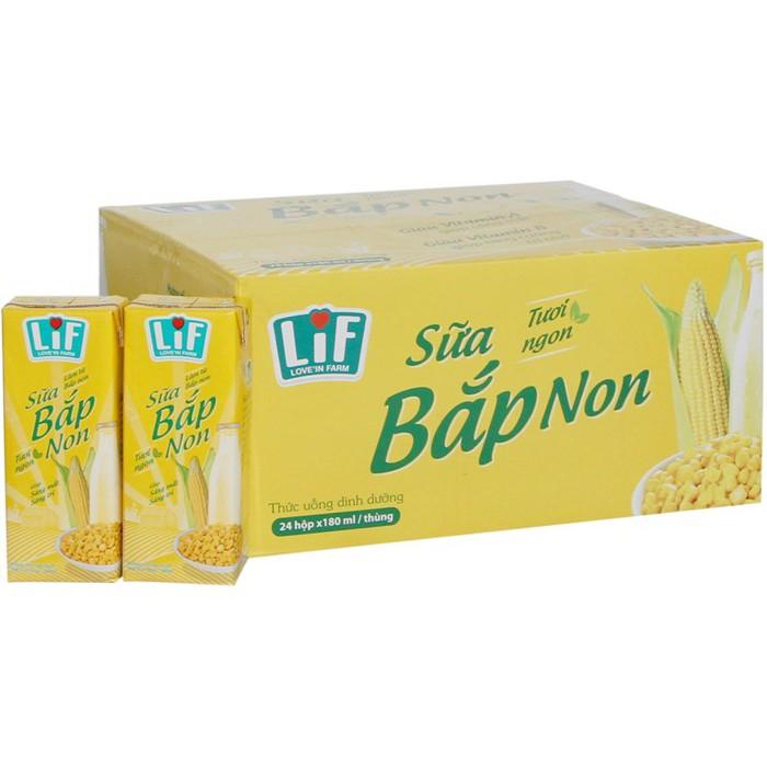 sữa bắp non lif thùng 12 lốc