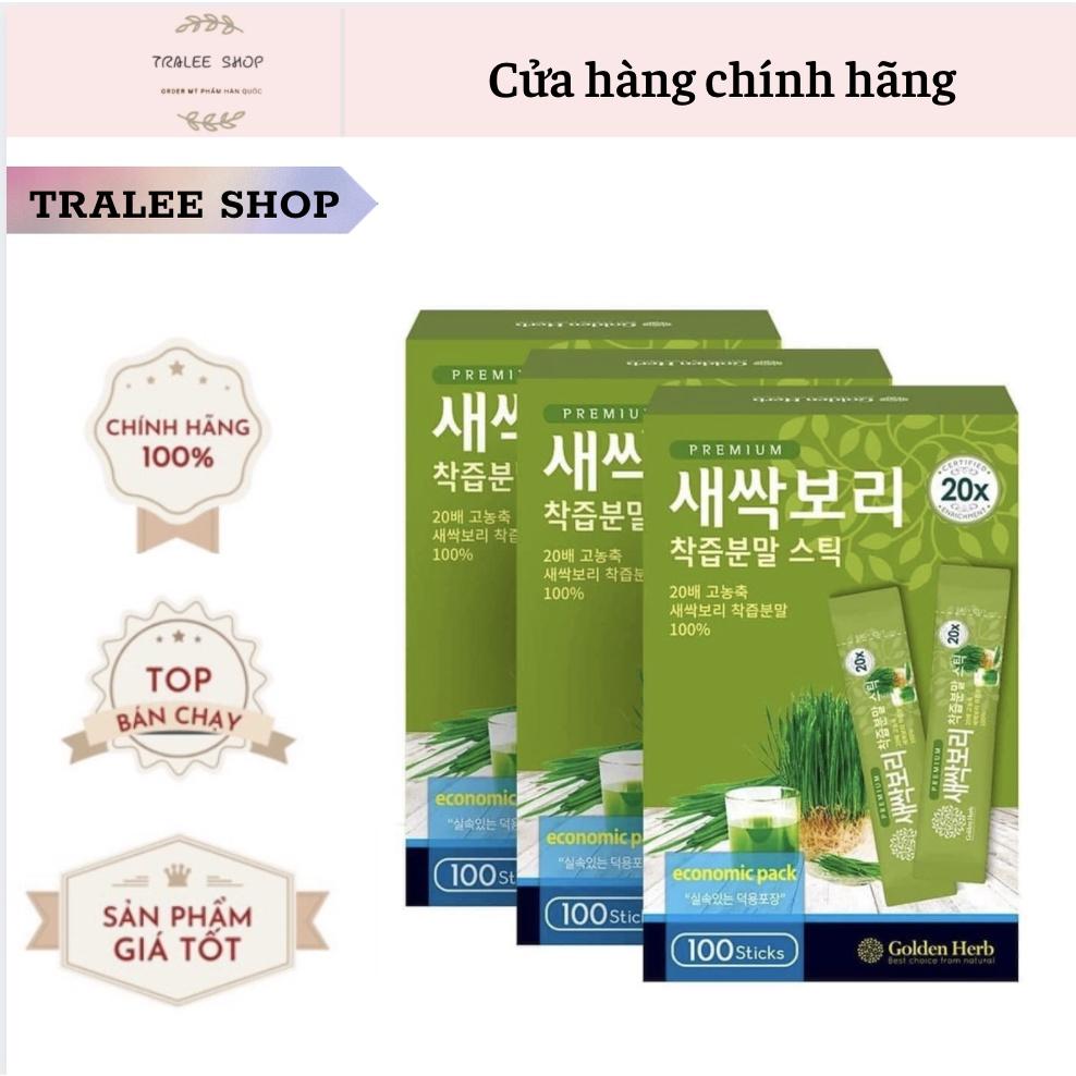 Mầm lúa mạch non cao cấp Golden Herb set 30 gói bill Hàn
