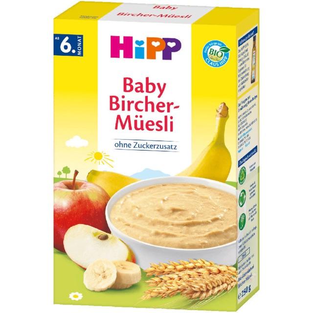 Bột ăn dặm ngũ cốc hữu cơ Hipp Baby Bircher Muesli cho bé từ 6 tháng