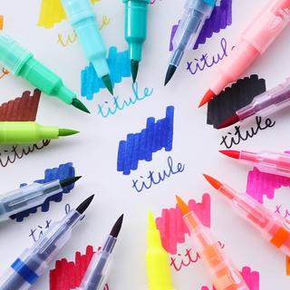 Hình ảnh Winzige Brush Pen Bút lông thiết kế 2 đầu viết hoặc vẽ-2