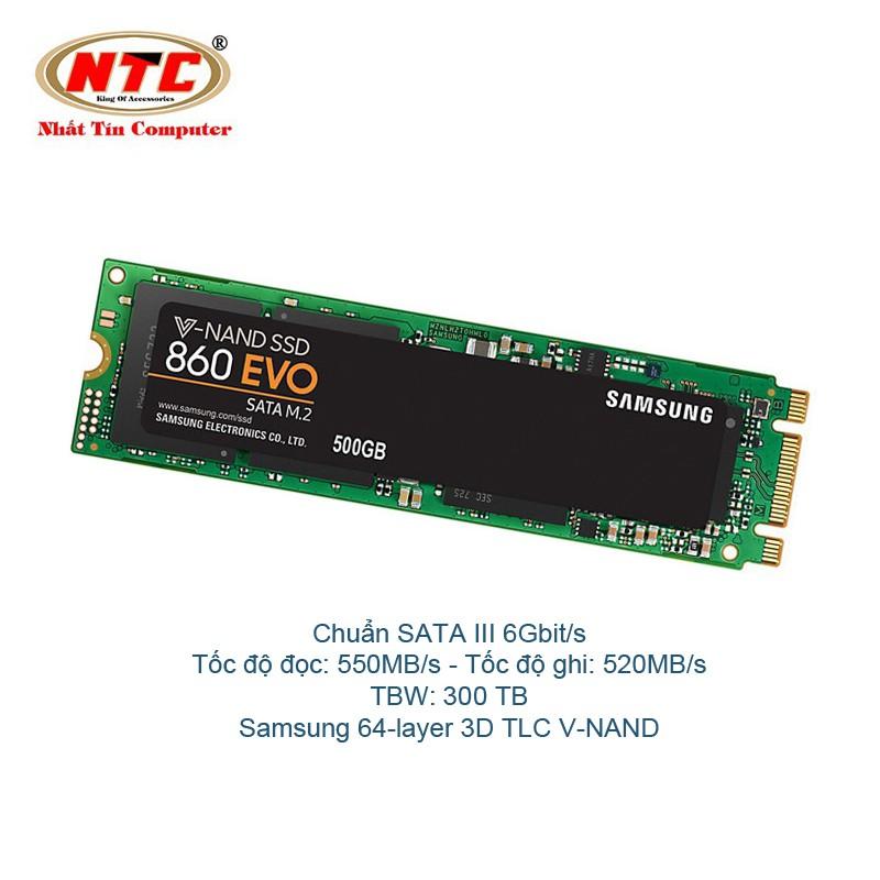 Ổ Cứng SSD M2 2280 Samsung 860 EVO 250gb - chuẩn SATA III 6Gbit/s (Đen) - 2519728 , 884863652 , 322_884863652 , 5000000 , O-Cung-SSD-M2-2280-Samsung-860-EVO-250gb-chuan-SATA-III-6Gbit-s-Den-322_884863652 , shopee.vn , Ổ Cứng SSD M2 2280 Samsung 860 EVO 250gb - chuẩn SATA III 6Gbit/s (Đen)