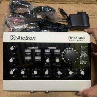 Sound card Thu Âm Livestream chuyên nghiệp Alctron U16 MK3-kèm dây kết nối bh 12 tháng chính hãng