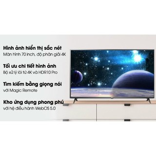 Smart Tivi LG 4K 70 inch 70UN7300PTC.MODEL2020( Hàng tồn kho Bảo hành chính hãng 2 năm)