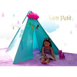 LỀU VẢI CHỮ A màu xanh, LỀU VẢI HANDMADE Lam Petit