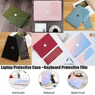 CLOUD  Case + Key Cover Apple Macbook Matte Case Laptop Protective Case Fingerprint-proof for Macbook Air 11'' 13'' Retina 12'' Pro Retina 13'' 15'' Hard PC Gradient Color Heat Dissipation Case