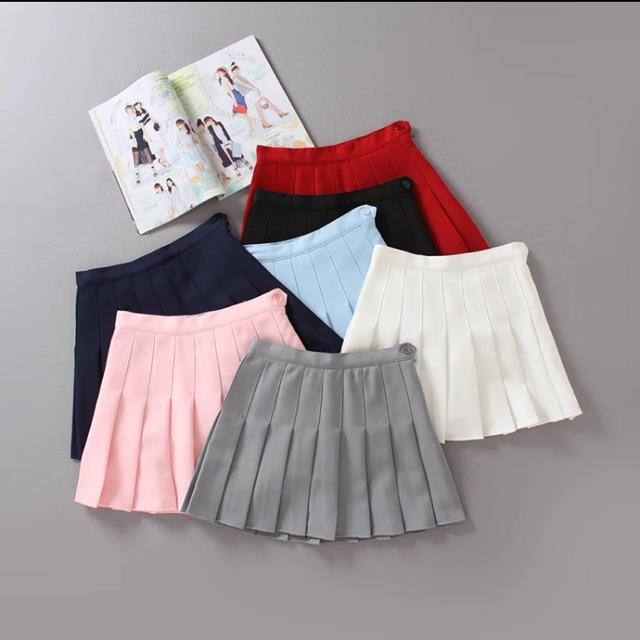 Chân váy xếp ly 1 màu