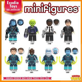Xếp hình 8 minifigure nhân vật siêu anh hùng Captain Marvel và Biệt Đội Starforce – Đồ Chơi Lắp Ghép Sáng Tạo – X0250