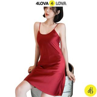 Hình ảnh Váy ngủ 2 dây lụa satin cao cấp 4Lova mềm mịn, quyến rũ-0