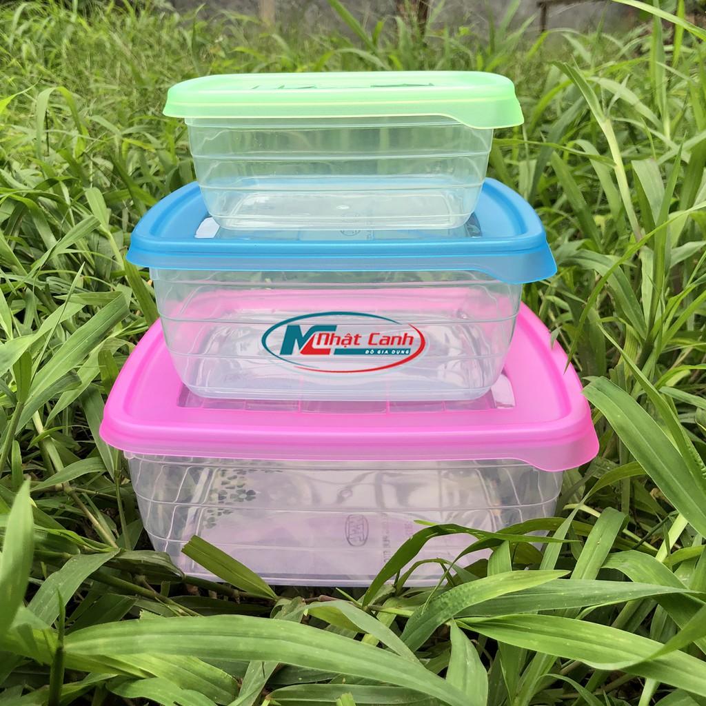 Bộ hộp thực phẩm bộ 3-2812 bằng nhựa Song Long