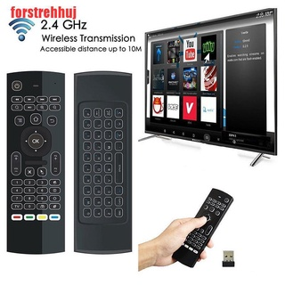 {forstrehhuj}MX3 Backlit Air Fly Mouse Wireless Keyboard IR Learn Remote For Android Box TV UUE
