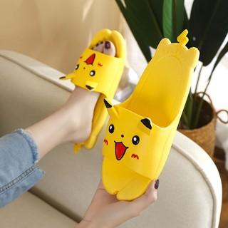Dép Đi Trong Nhà Đế Mềm Chống Trượt Hình Pikachu Dễ Thương Cho Bé