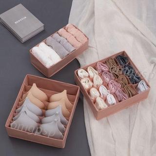 3 Piece Set Foldable Closet Underwear Organizer Drawer Divider for Panties Bras Socks Ties