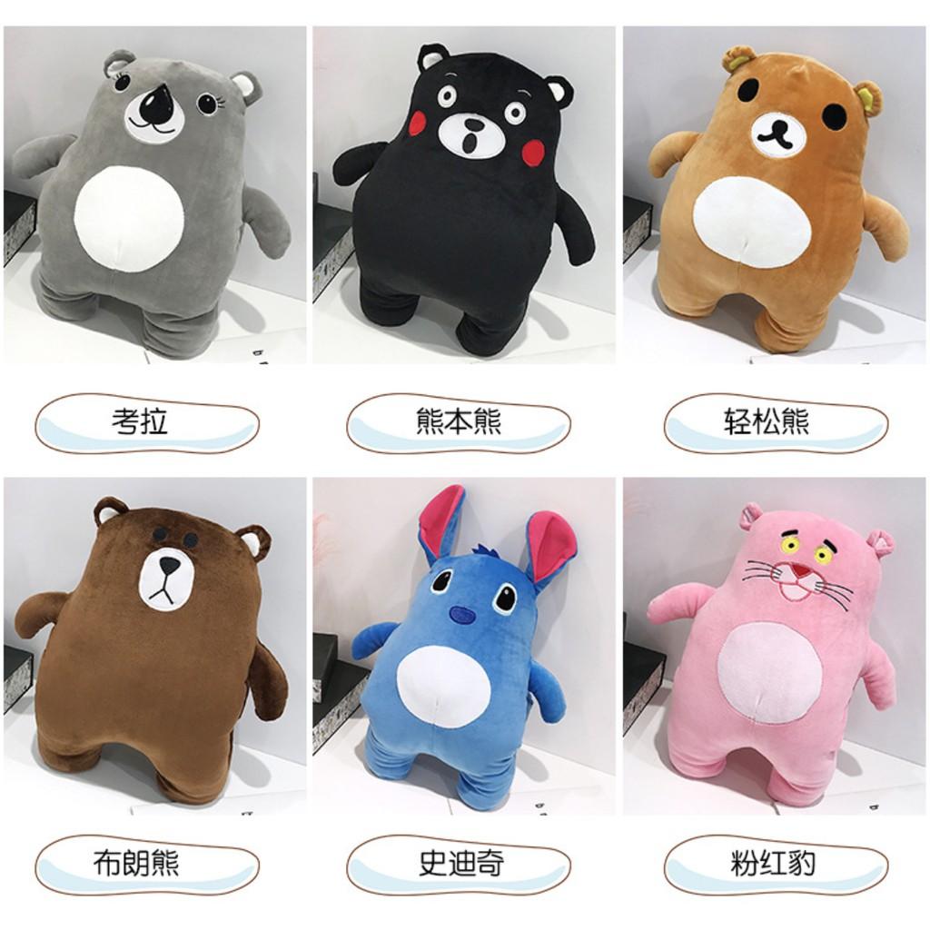 Gấu bông hoạt hình kèm ủ tay
