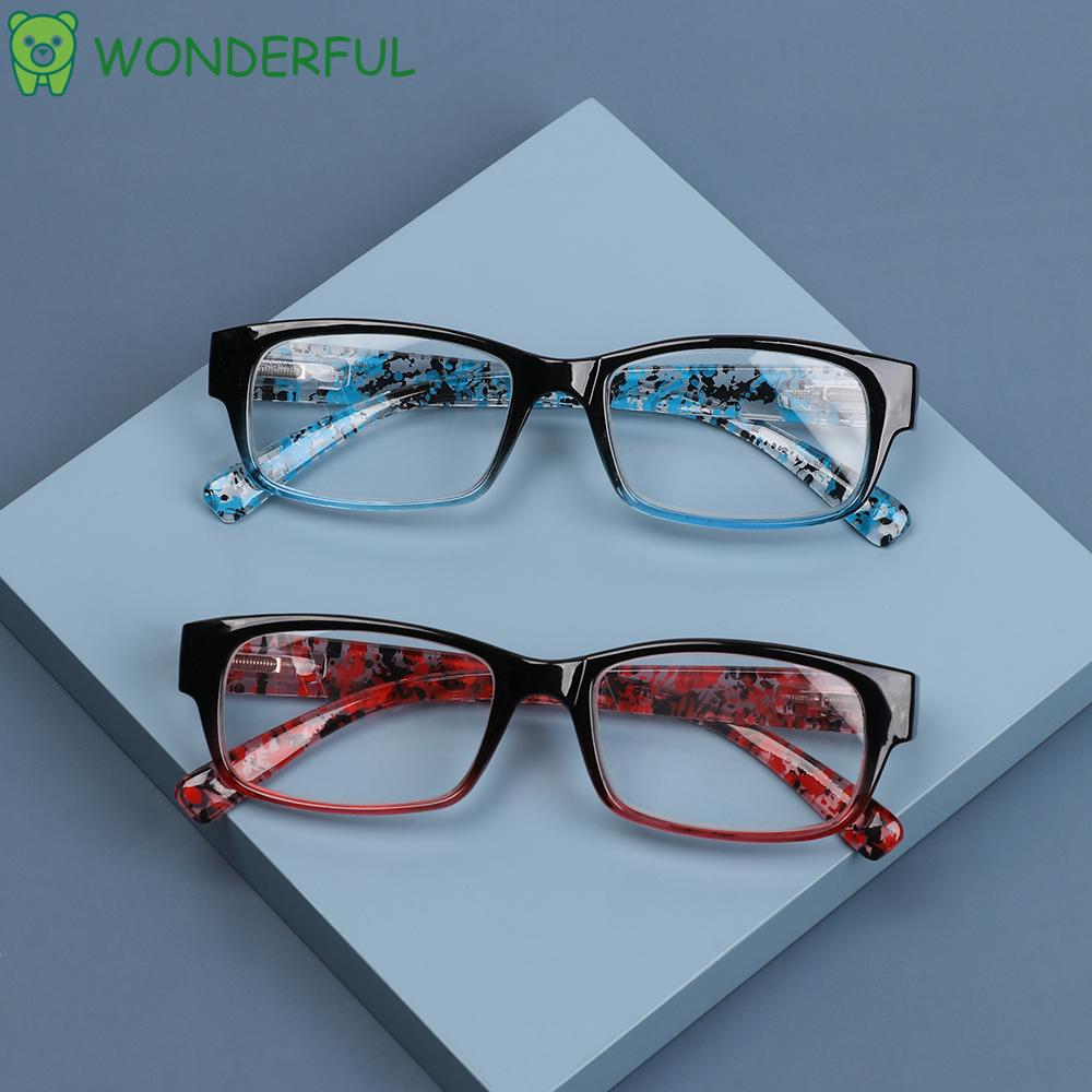 WONDERFUL Resin Presbyopia Eyeglasses HD Clear Lens Eyewear Reading Glasses TR90 +1.0~+4.0 For Women&Men Ultralight Gradient/Multicolor