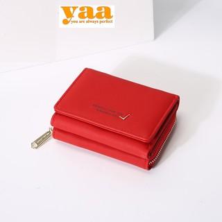 [Rẻ Vô Địch] VÍ NGẮN CẦM TAY siêu dễ thương phong cách Hàn Quốc Màu đỏ Quý phái thumbnail