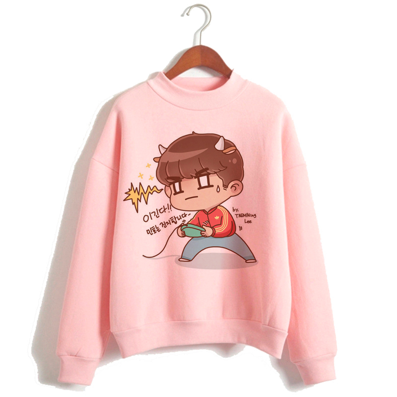 SHINEE áo Women Autumn Winter Trendy Embroidery Korean Style Simple Casual Kawaii Ulzzang Oversize Womens Clothing