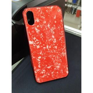 Ốp Lưng Kính Viền Xi Vân Đá Hoa Cương Cho Iphone X / XS Cực Đẹp