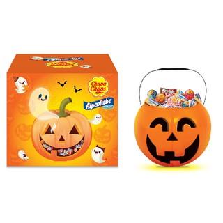 Hình ảnh [Mã GRO1PVM14 giảm 10% đơn 150K] Kẹo Chupa Chups Alpenliebe Halloween (Phiên Bản Hộp Bí Ngô) 460g/hộp-0