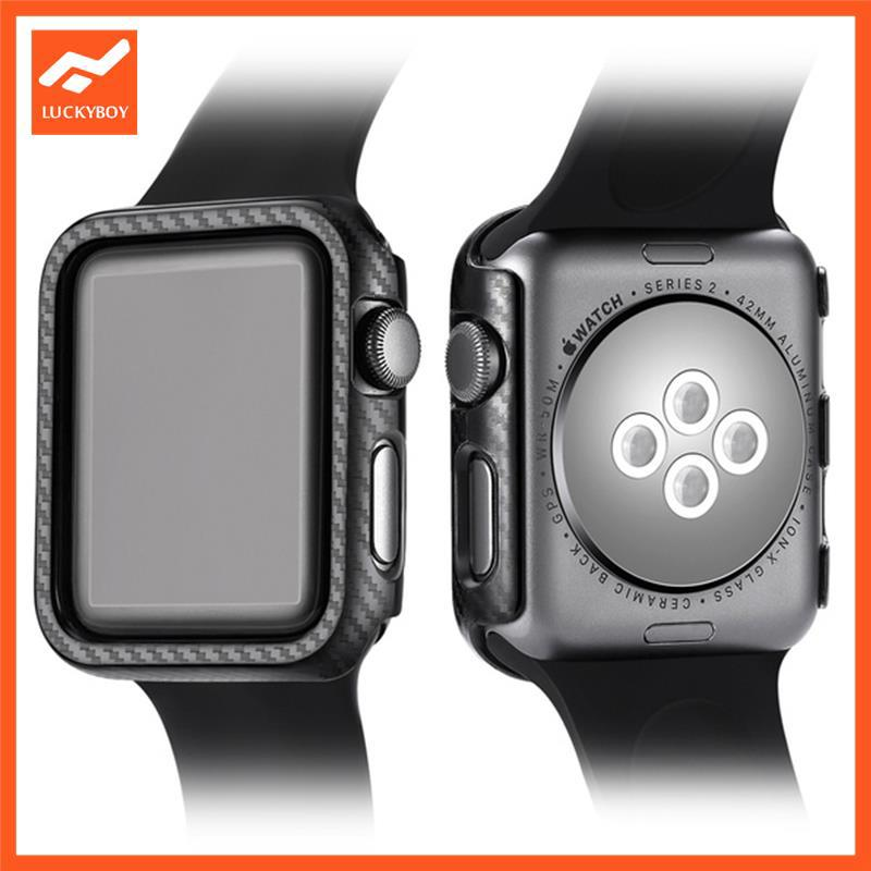 LU Protective Watch Case Watch Shell Protection Supplies Carbon Fiber for Apple Watch